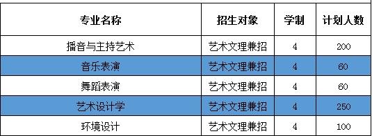 广西外国语学院2021年艺术类本科专业招生计划