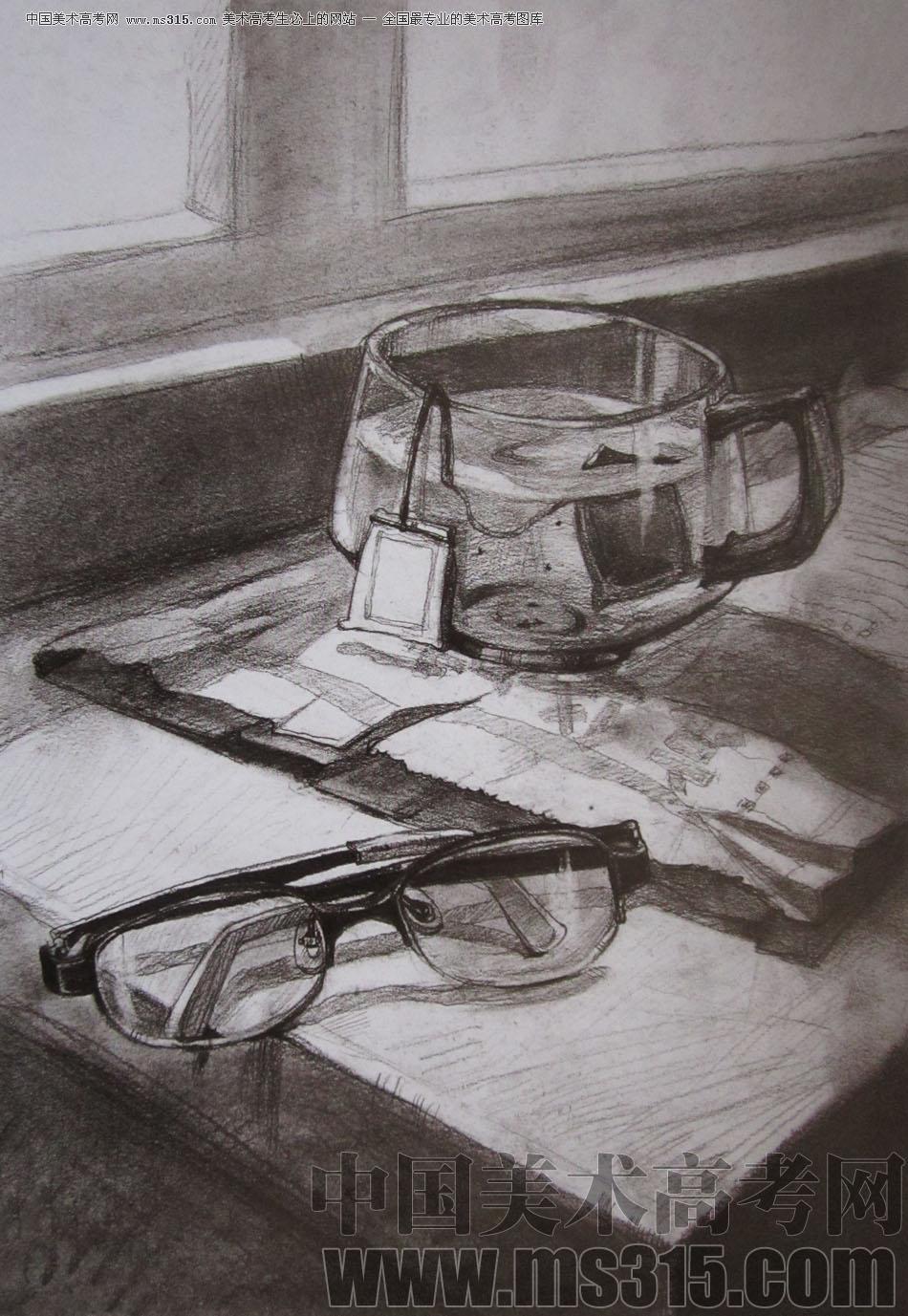 2009年清华大学美术学院素描高分试卷1(设计)