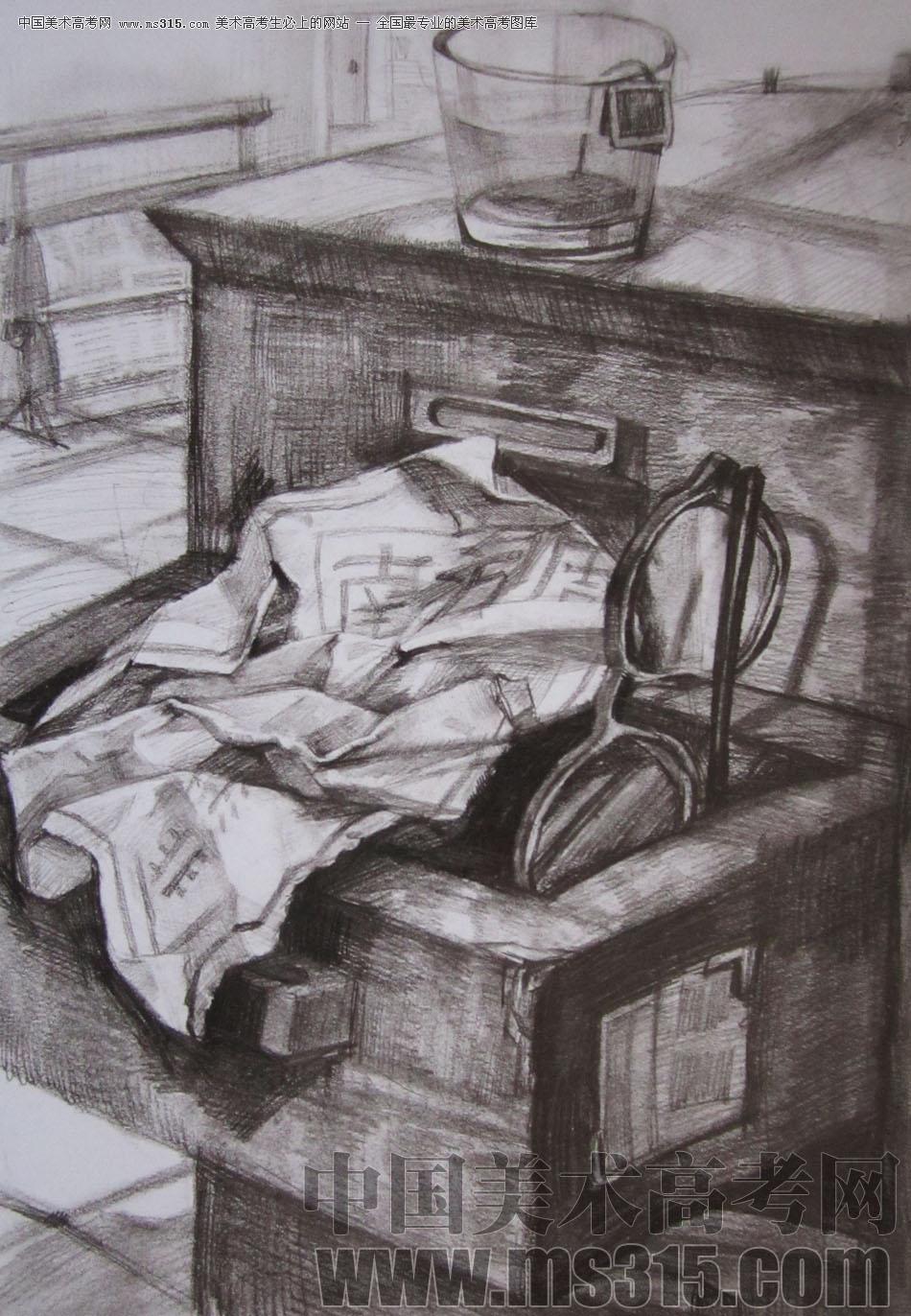 2009年清华大学美术学院素描高分试卷3(设计)