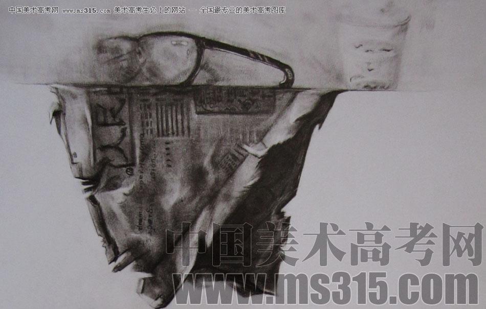 2009年清华大学美术学院素描高分试卷16(设计)