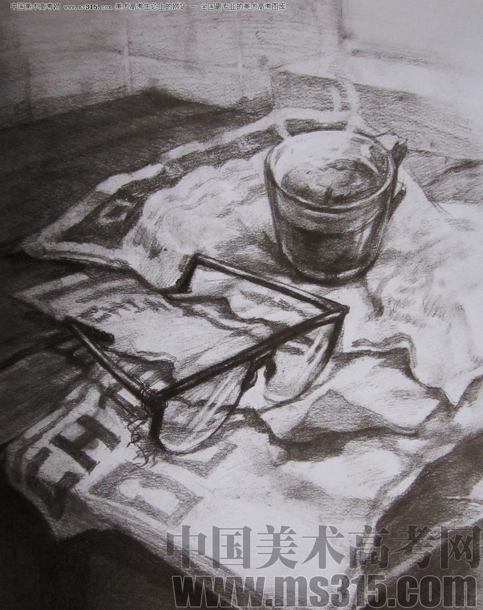 2009年清华大学美术学院素描高分试卷19(设计)