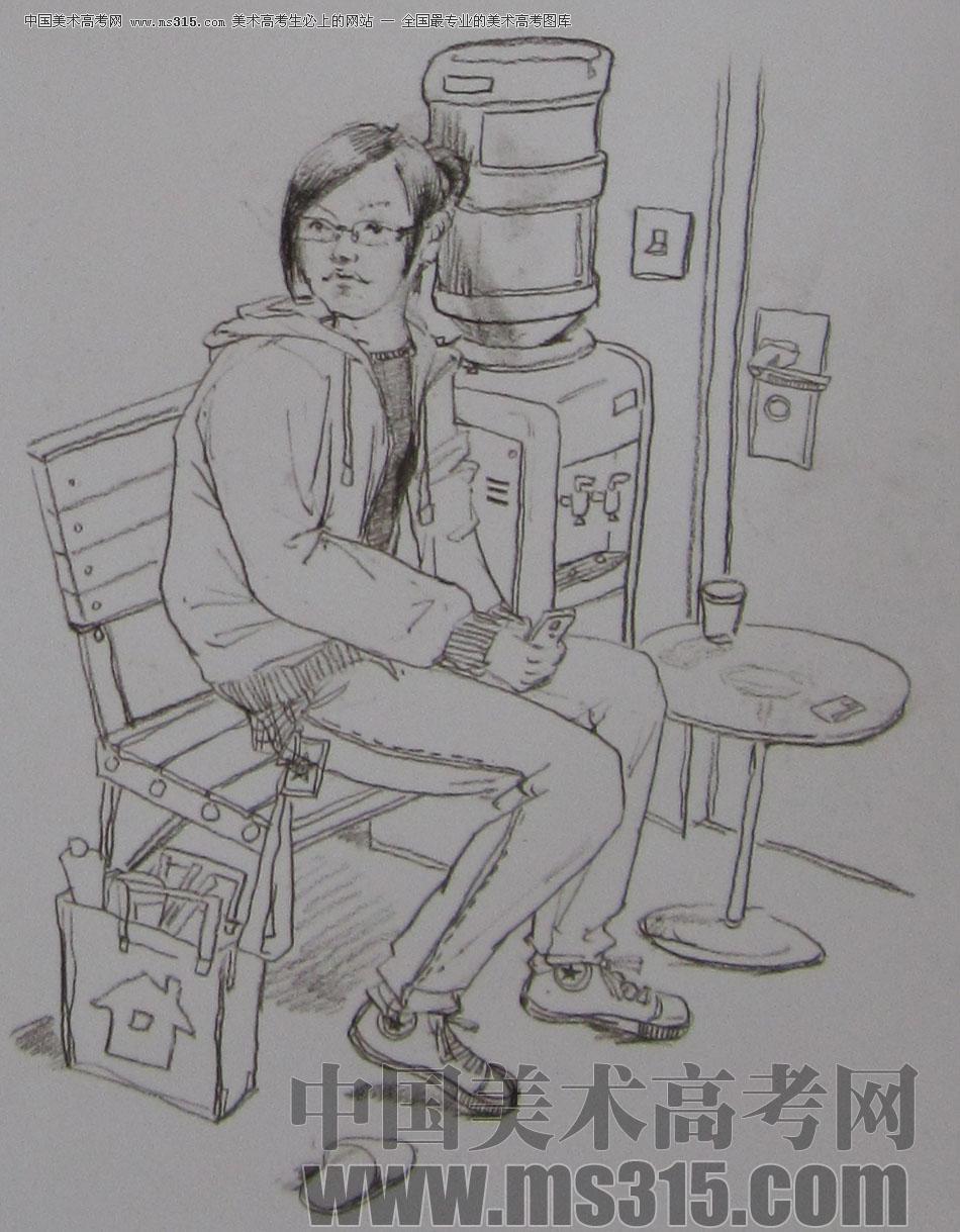 2009年清华大学美术学院速写高分试卷9(设计)