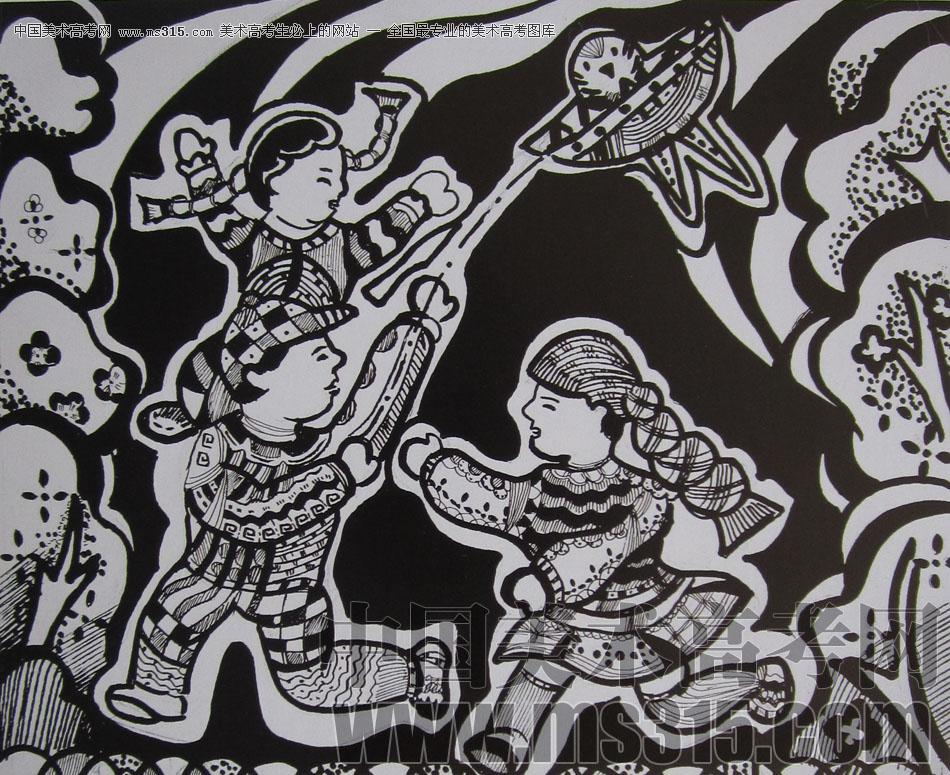 美术高考图库中心 2009年四川美术学院设计基础优秀试卷 -> 作品欣赏