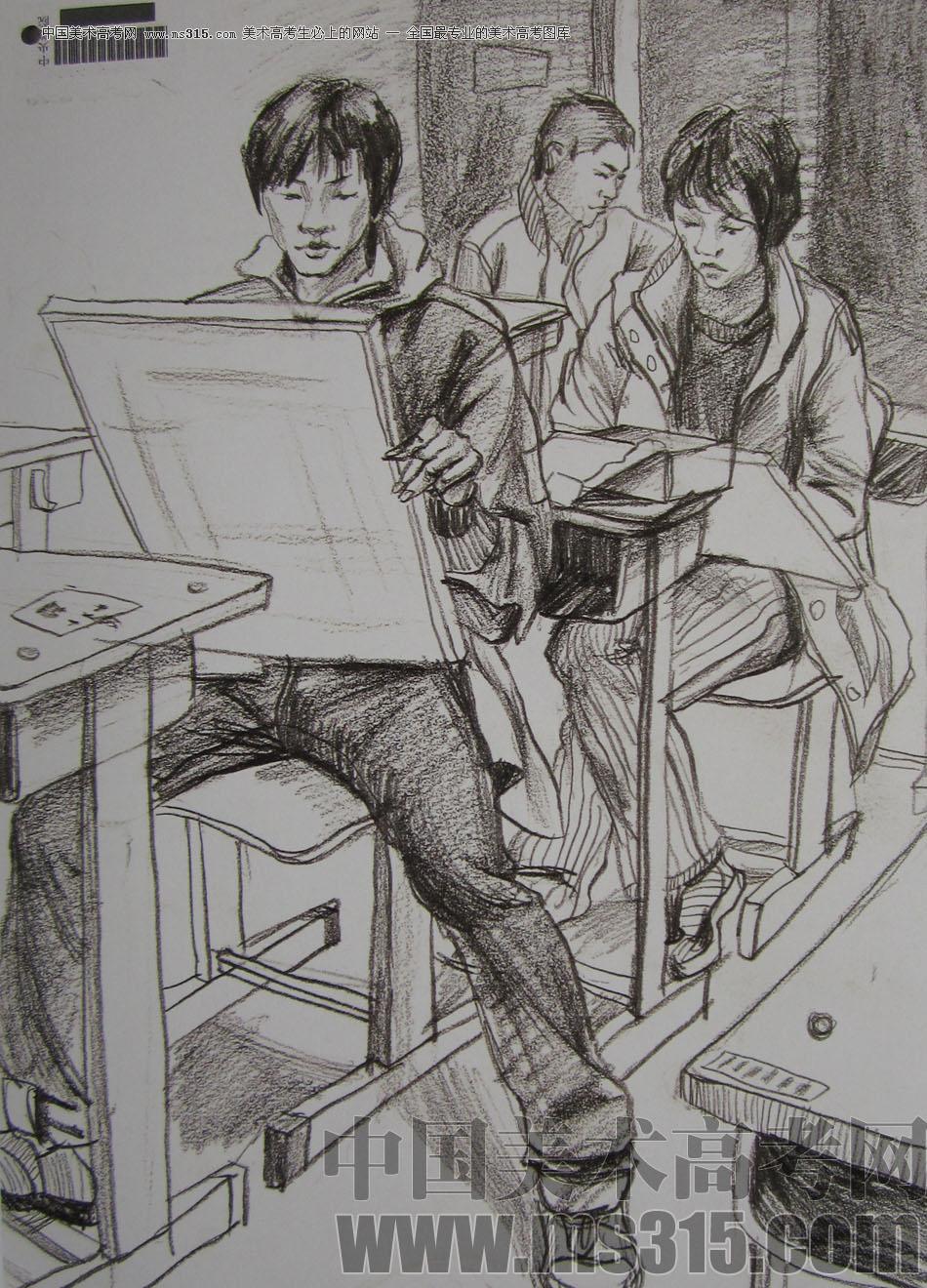 2009年中央美术学院艺术设计专业优秀试卷26(速写)