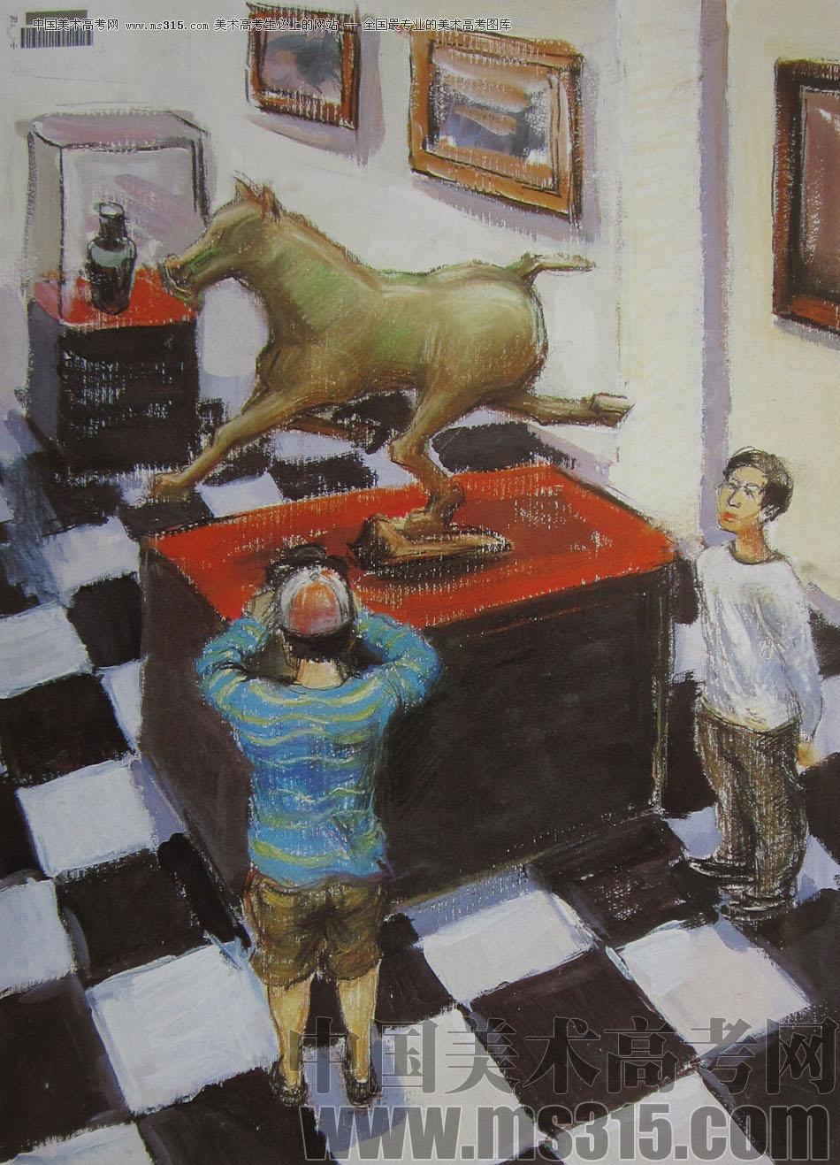 2009年中央美术学院造型艺术专业优秀试卷31(命题创作图片