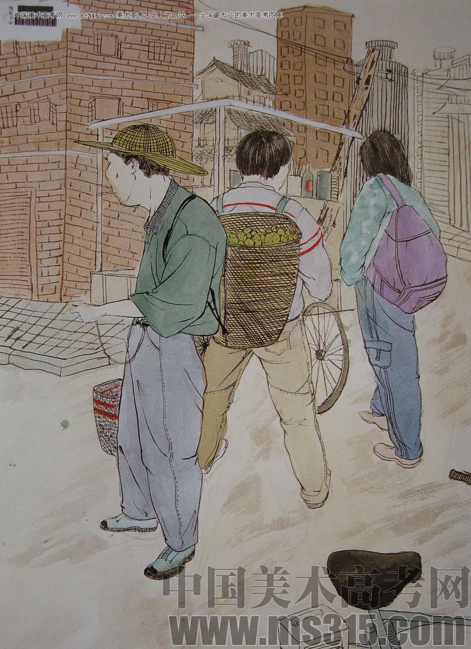 2009年中央美术学院中国画专业优秀试卷13(命题创作)图片