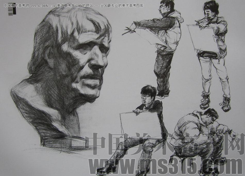 2009年中国美术学院设计类素描优秀试卷23