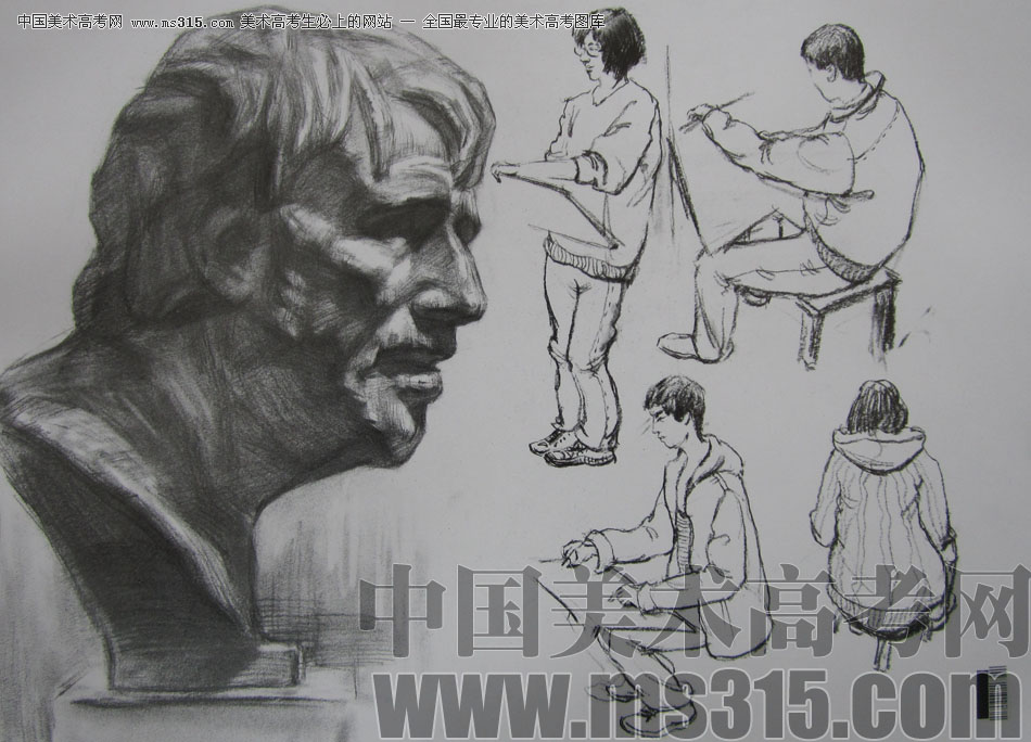 2009年中国美术学院设计类素描优秀试卷37