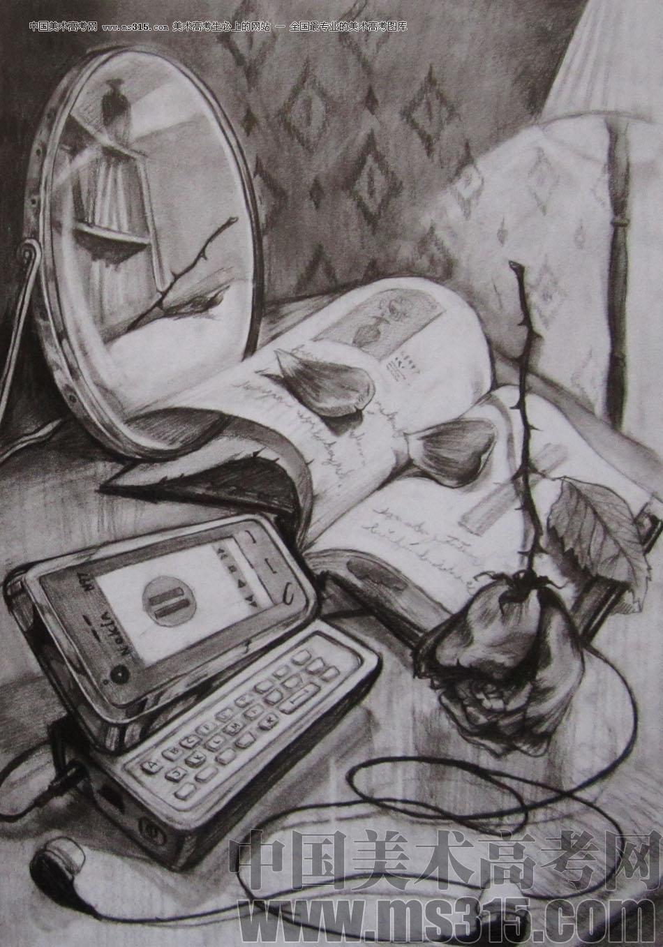 2010年清华大学美术学院素描高分试卷15(设计)