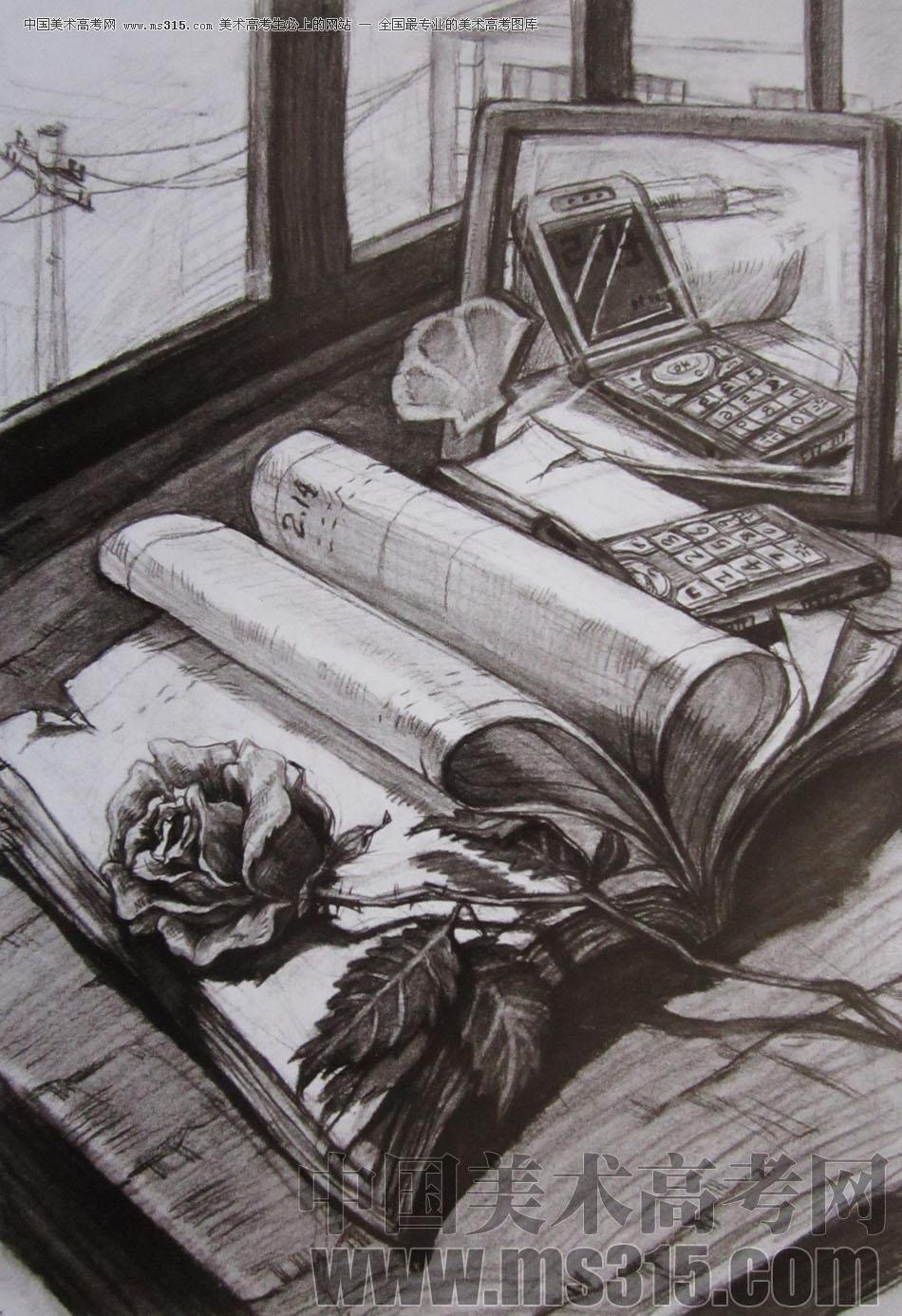 2010年清华大学美术学院素描高分试卷16(设计)