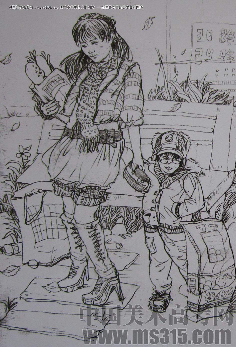 母子空间设计手绘