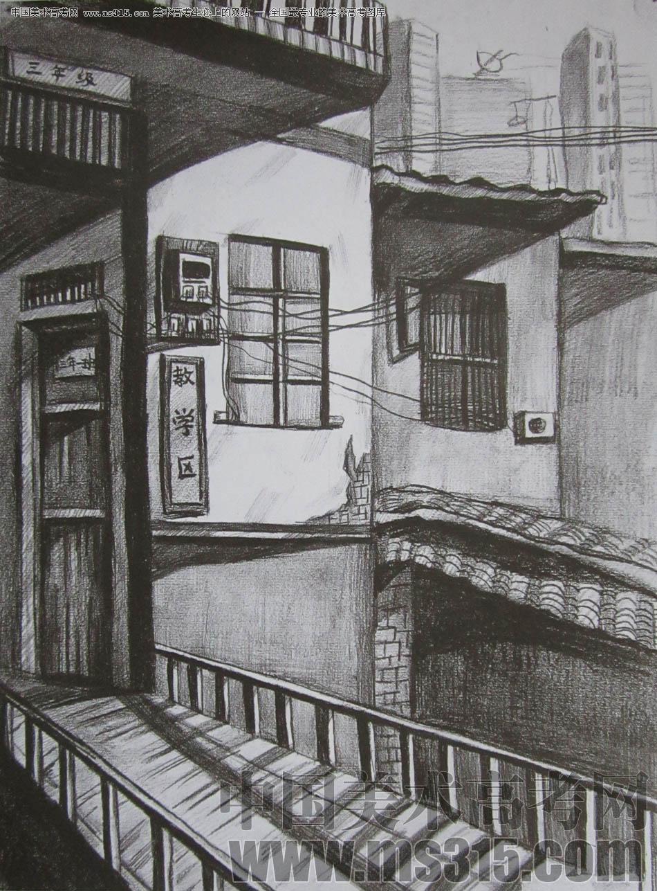 中央美术学院2010年建筑学优秀试卷3(素描)图片