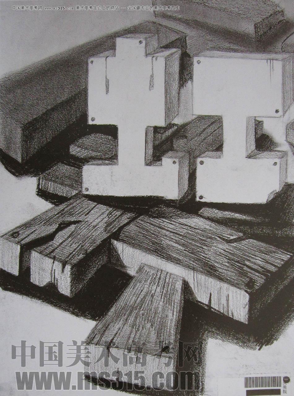 中央美术学院2010年艺术设计优秀试卷4(素描)