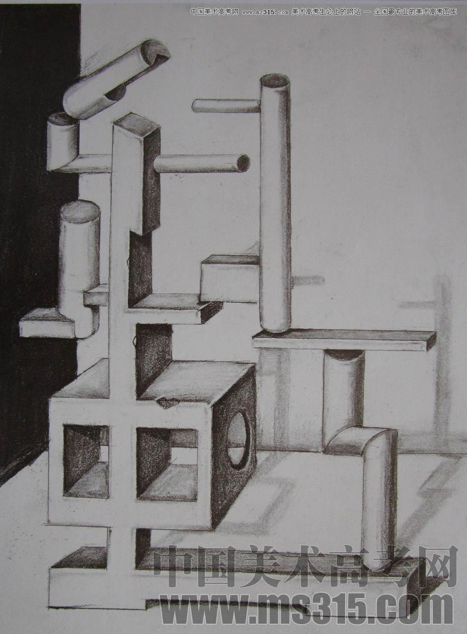 圆柱立体构成作业图片步骤图
