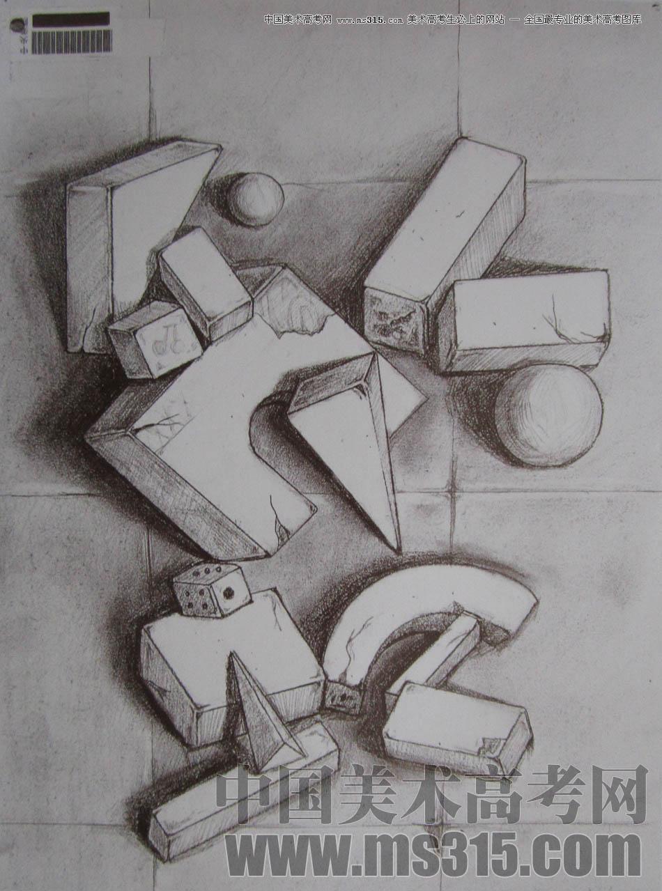 中央美术学院2010年艺术设计优秀试卷12(素描)