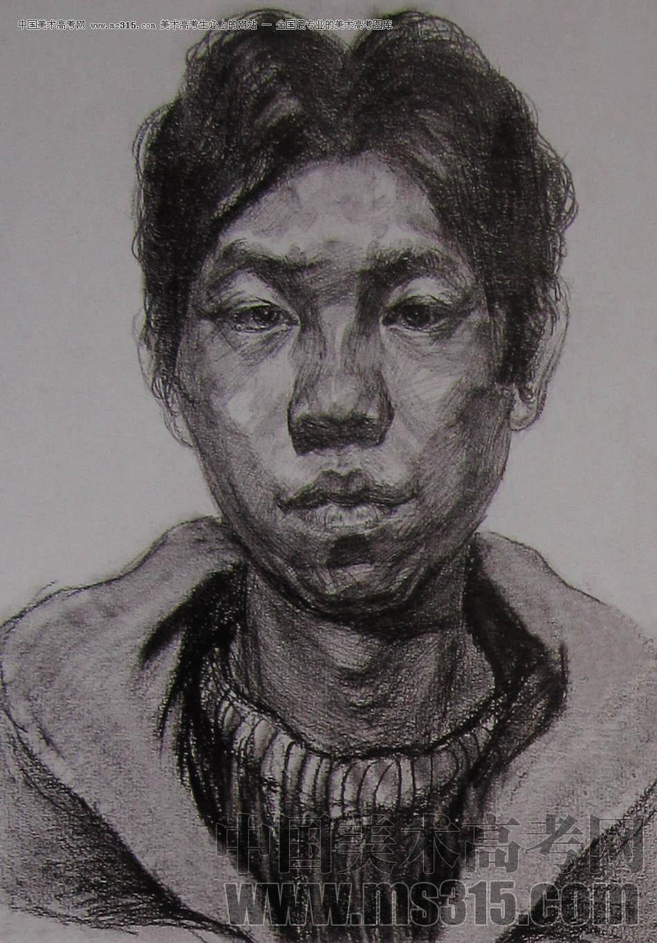 2010-2011年天津美术学院素描优秀试卷17(绘画、雕塑)