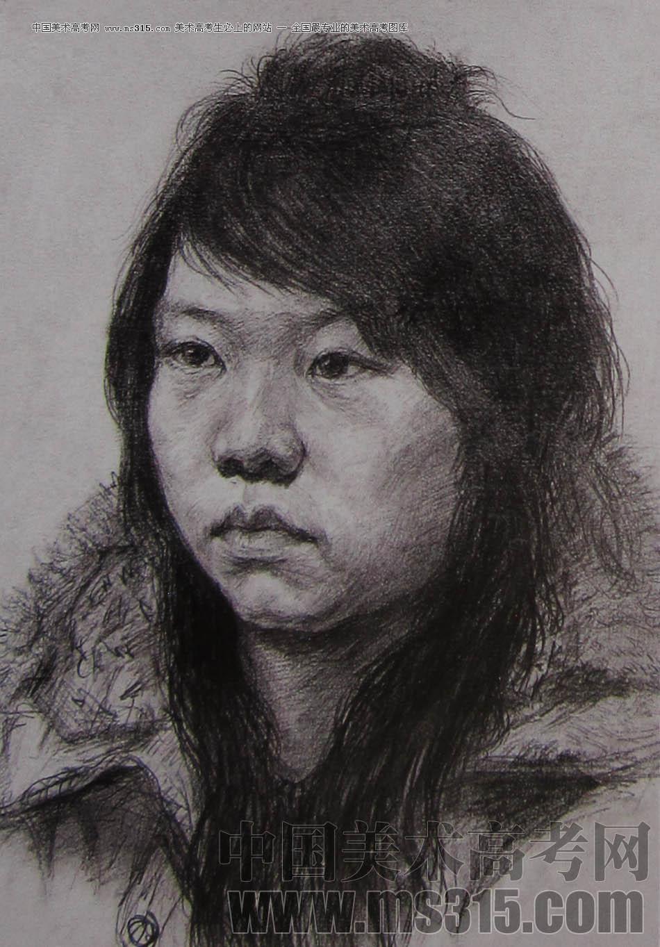 2010-2011年天津美术学院素描优秀试卷18(绘画、雕塑)
