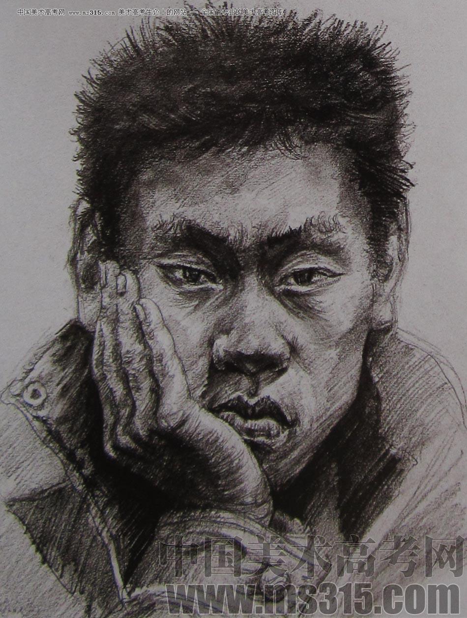 2010-2011年天津美术学院素描优秀试卷128(艺术设计,工业设计,动画)