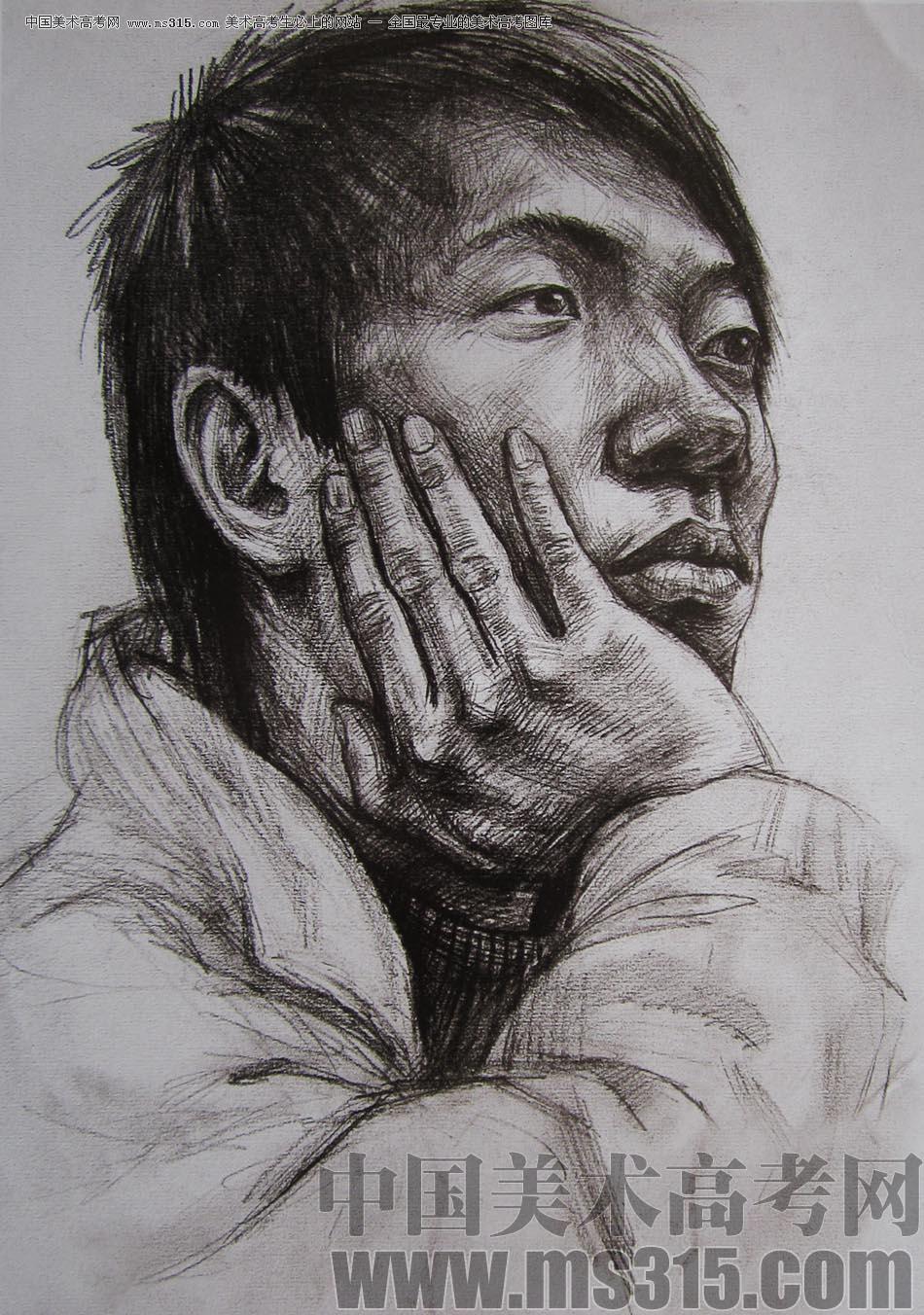2010-2011年天津美术学院素描优秀试卷131(艺术设计,工业设计,动画)