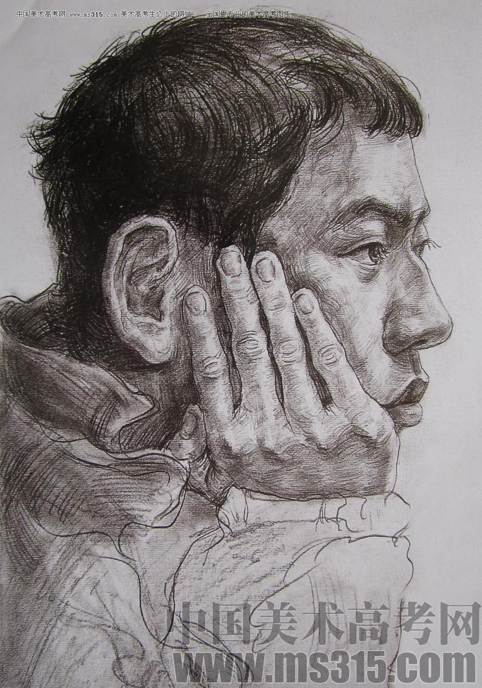 2010-2011年天津美术学院素描优秀试卷135(艺术设计,工业设计,动画)