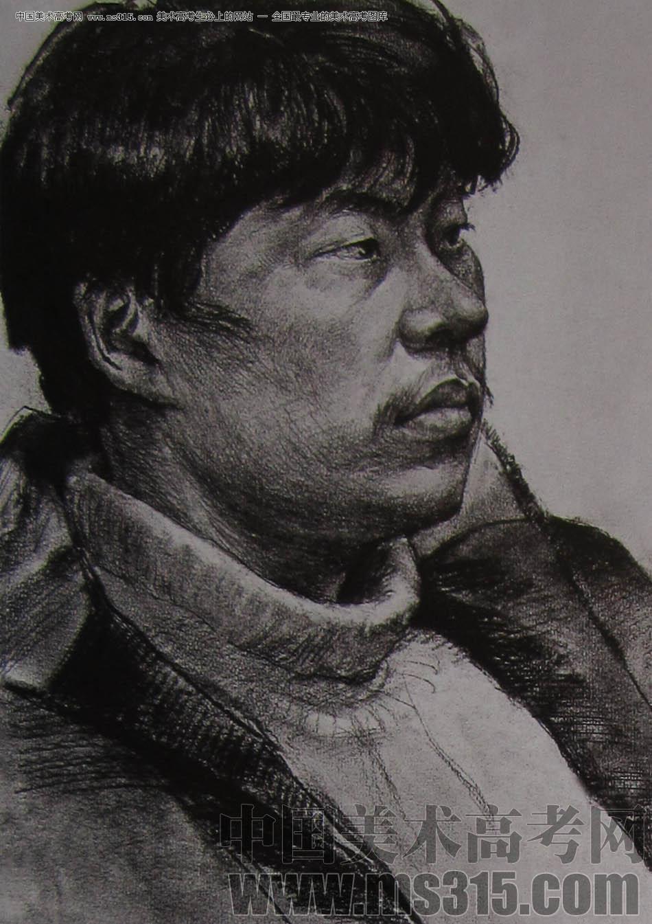 2010-2011年天津美术学院素描优秀试卷7(绘画、雕塑)