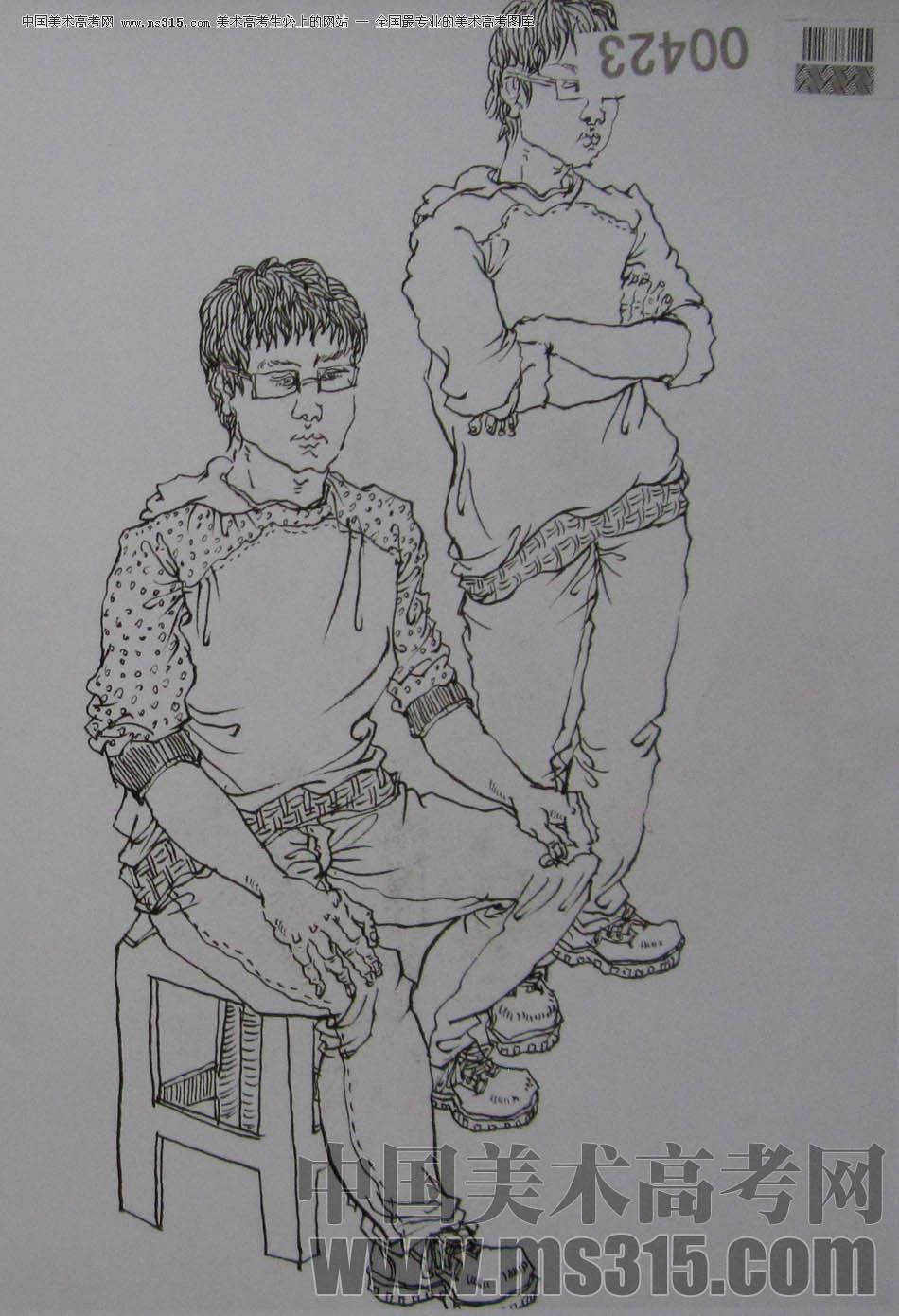湖北美术学院2011年速写优秀试卷38