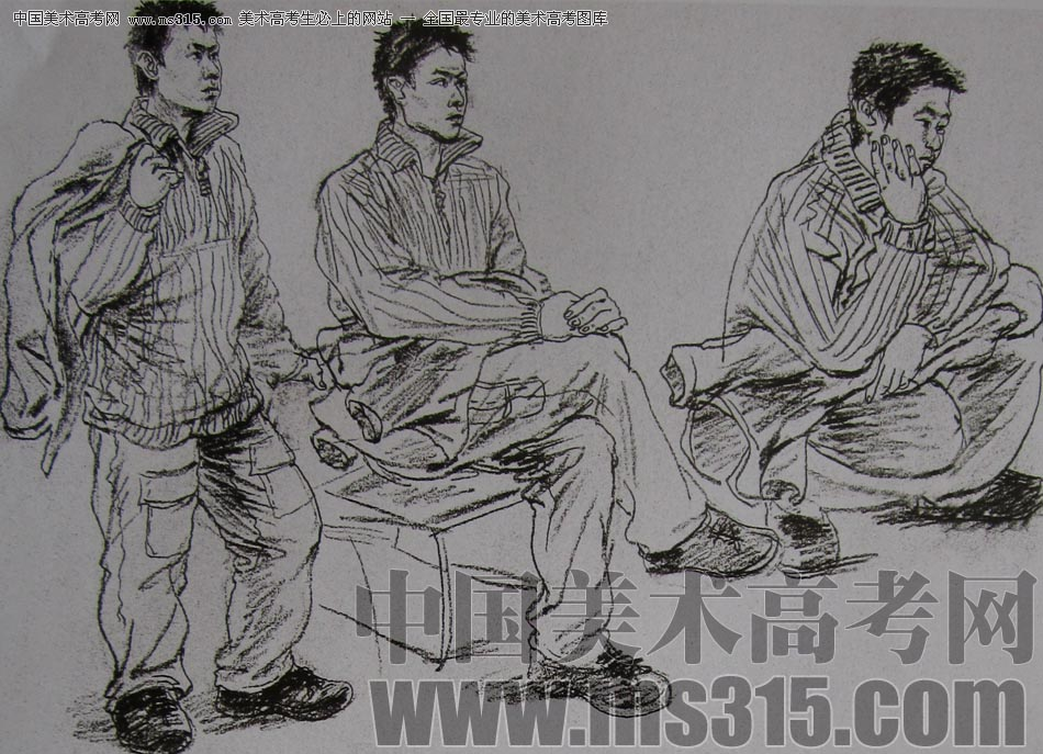 2010-2011年天津美术学院速写优秀试卷129(艺术设计,工业设计,动画)