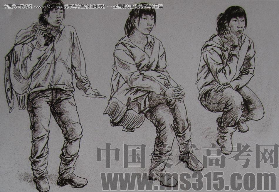 2010-2011年天津美术学院速写优秀试卷138(艺术设计,工业设计,动画)