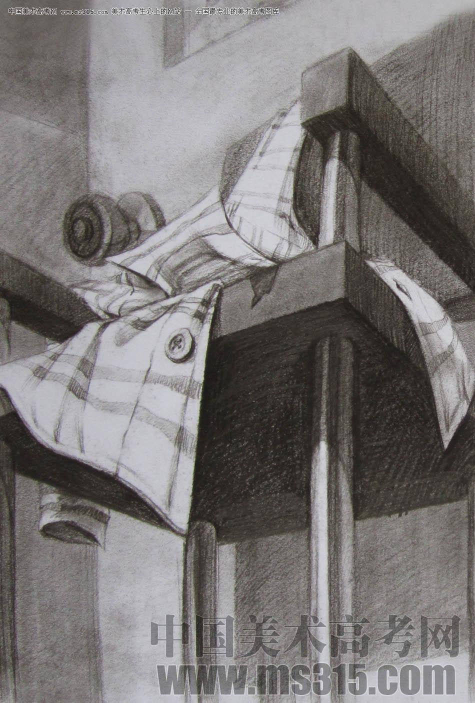 2011年清华大学美术学院素描高分试卷9(设计)