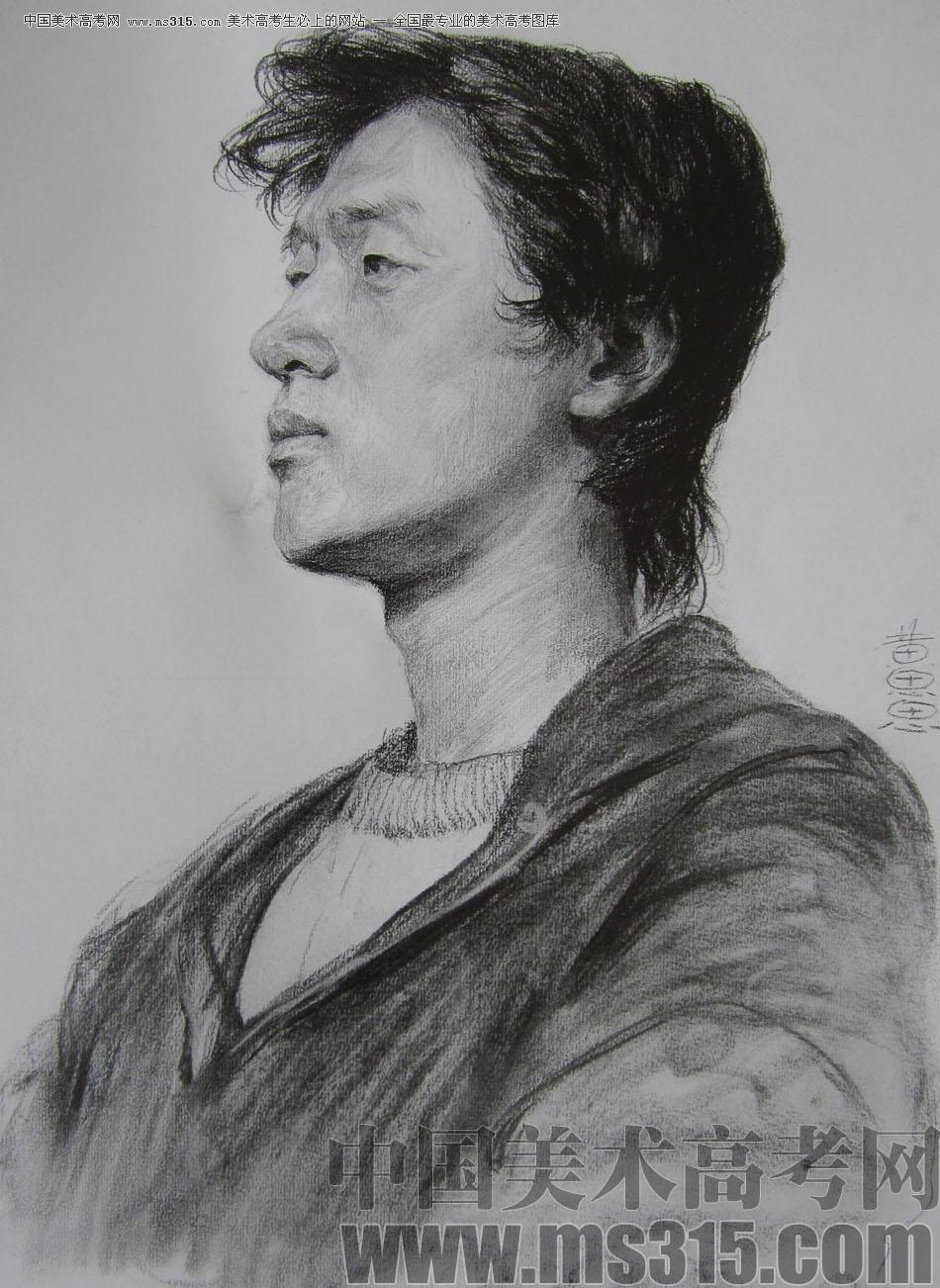 央美清�A�p�钤��S思思素描�^像��秀作品1