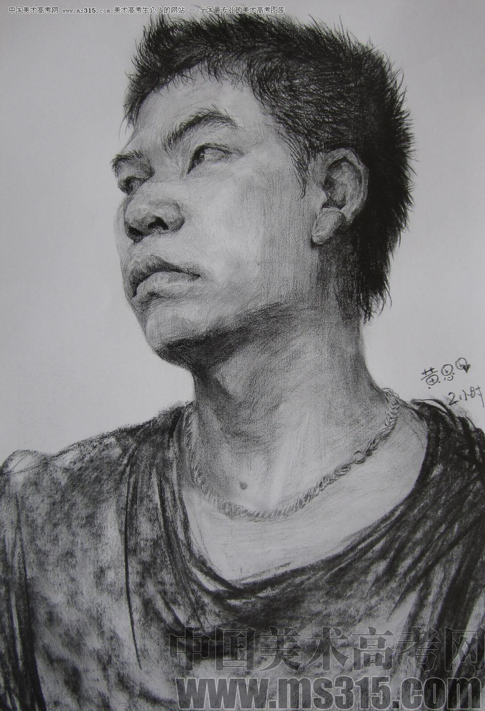央美清�A�p�钤��S思思素描�^像��秀作品10