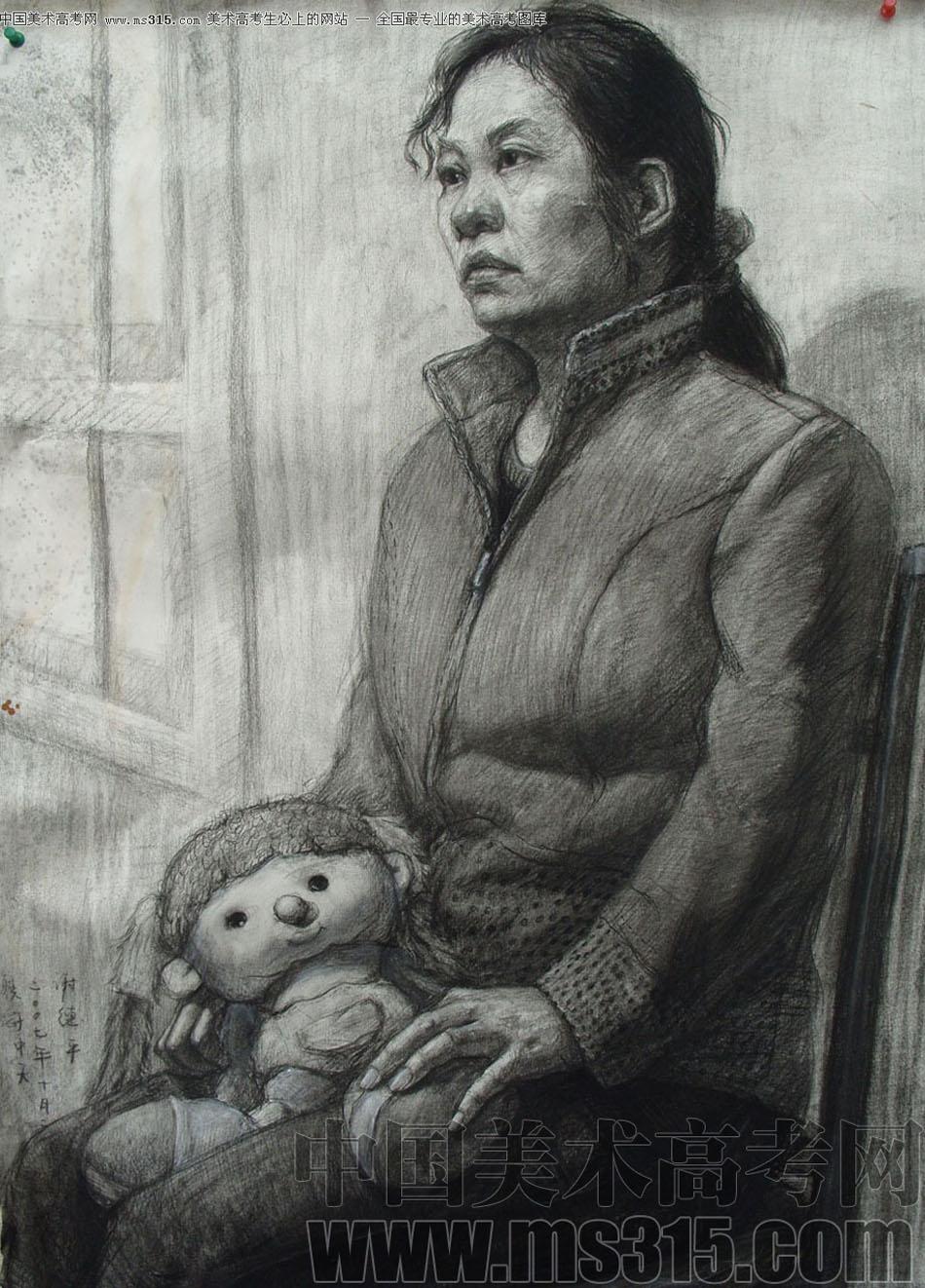 北京京美画室投稿作品6(素描半身像)