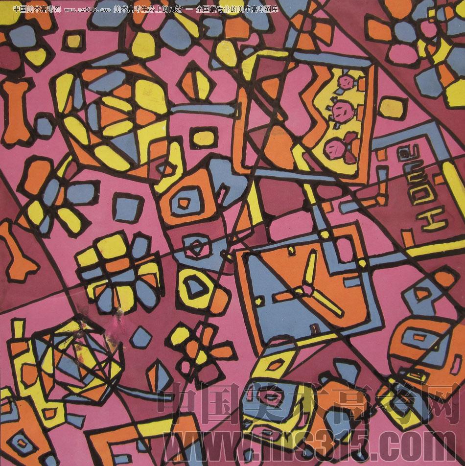 美术高考图库中心 2009年鲁迅美术学院设计基础优秀试卷 -> 作品欣赏