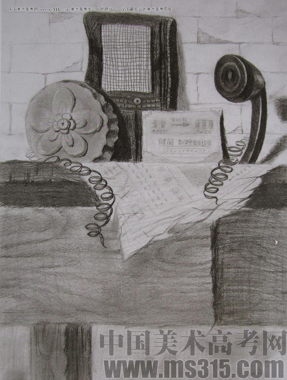 2012年清华大学美术学院素描高分试卷1(设计)