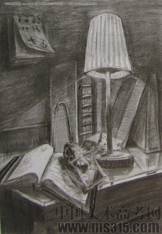 2012年清华大学美术学院素描高分试卷16(设计)