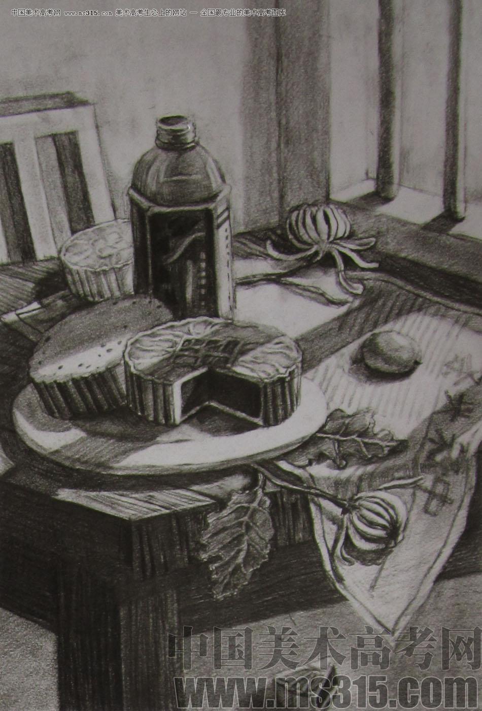 2012年清华大学美术学院素描高分试卷23(设计)