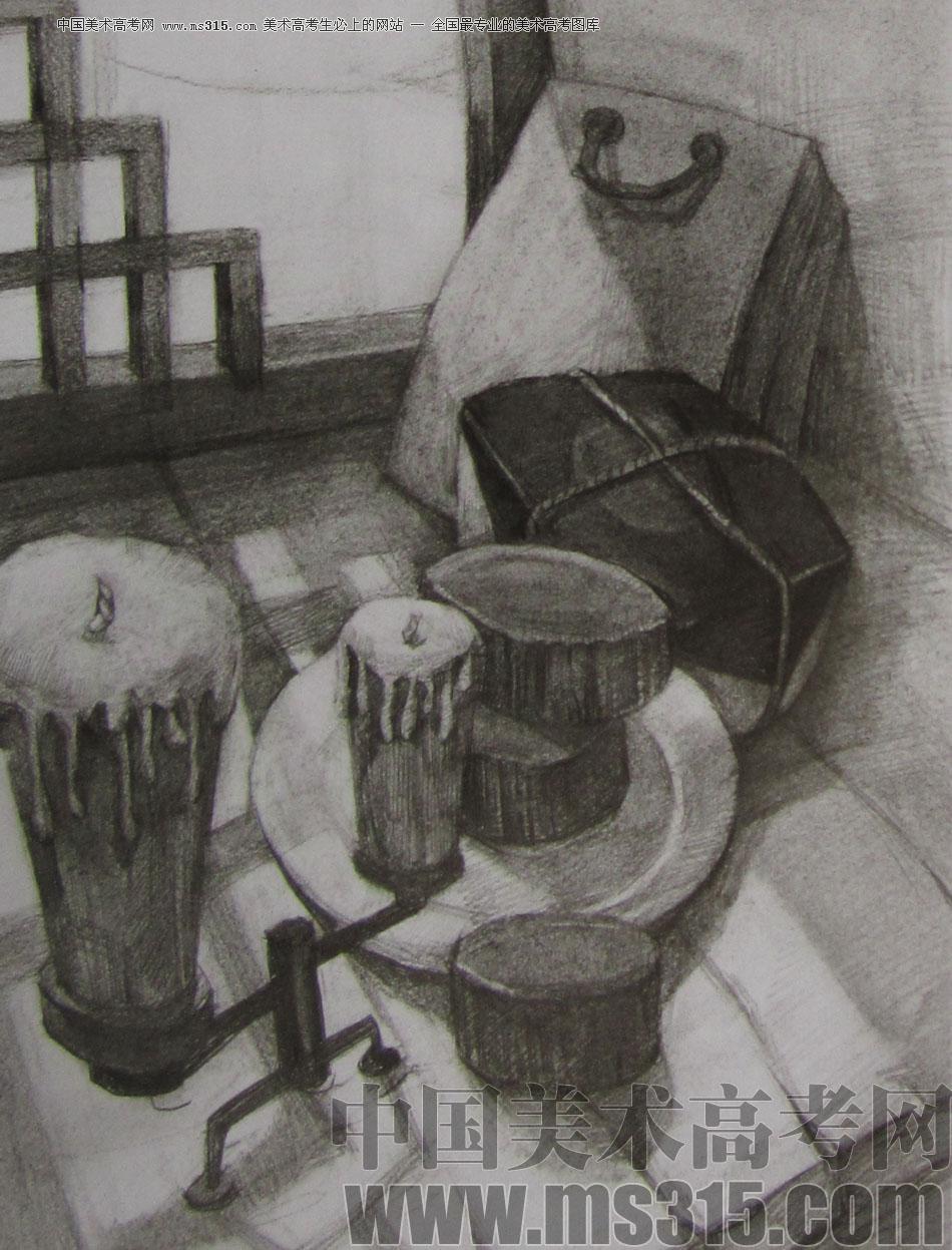 2012年清华大学美术学院素描高分试卷42(设计)