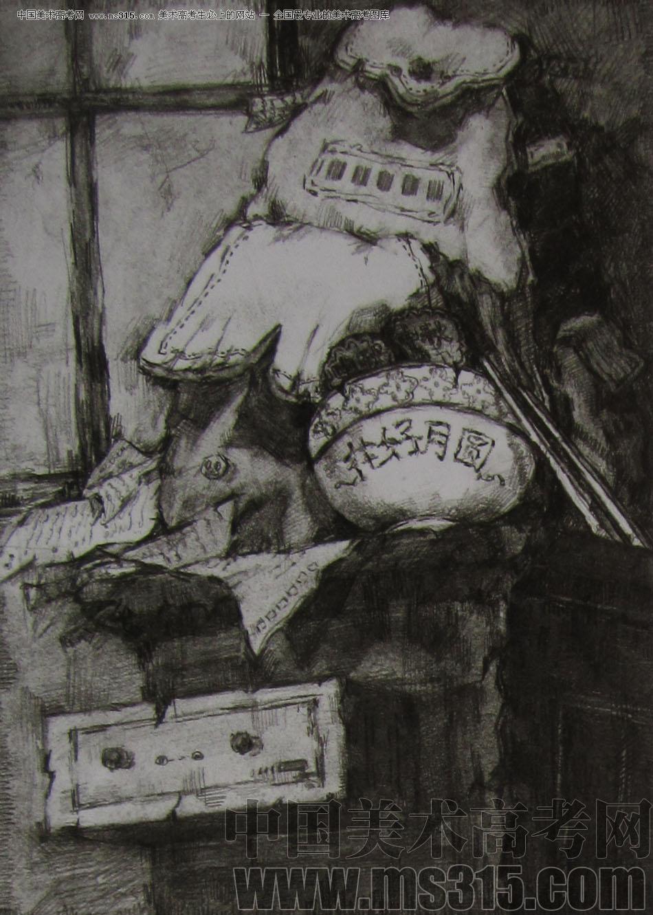 2012年清华大学美术学院素描高分试卷84(设计)