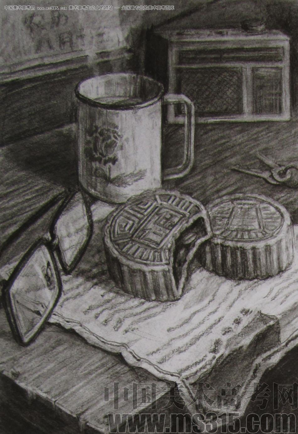 2012年清华大学美术学院素描高分试卷50(设计)