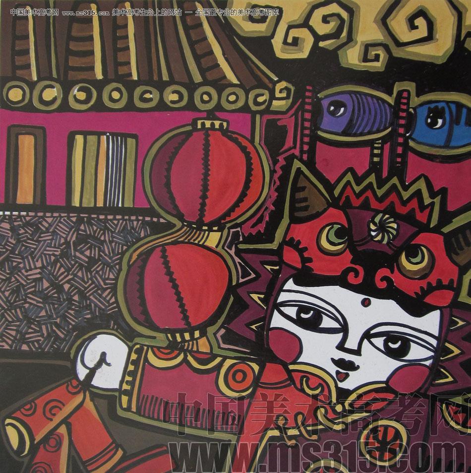 2012年鲁迅美术学院设计基础优秀试卷17_美术高考图库