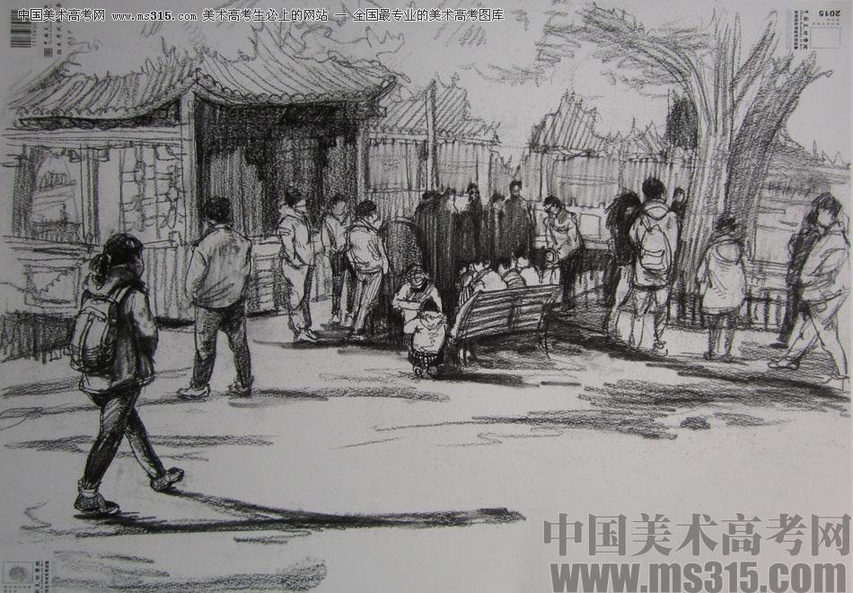 2015年中国美术学院速写高分卷12图片