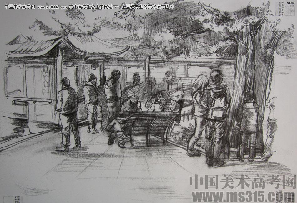 2015年中国美术学院速写高分卷16图片
