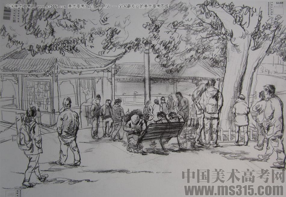2015年中国美术学院速写高分卷21图片