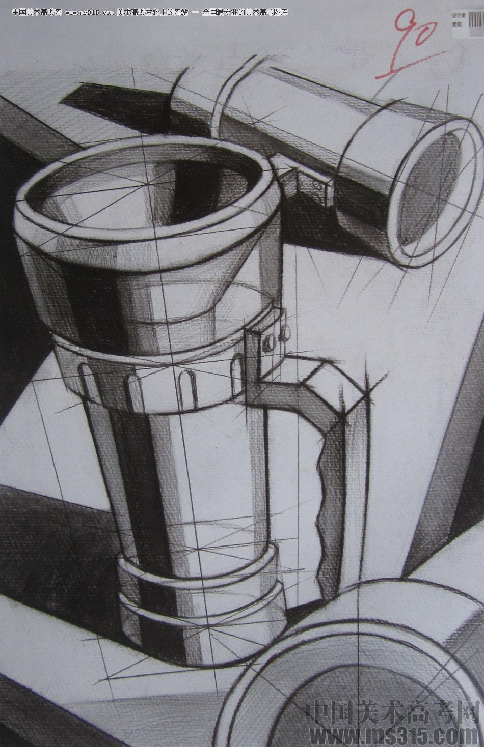 2015年四川美术学院设计素描高分卷1
