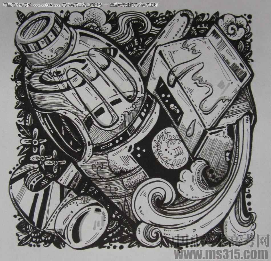 黑白装饰画)高分卷40