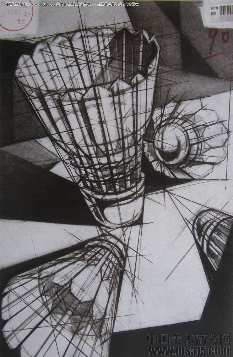 2015年四川美术学院设计素描高分卷19