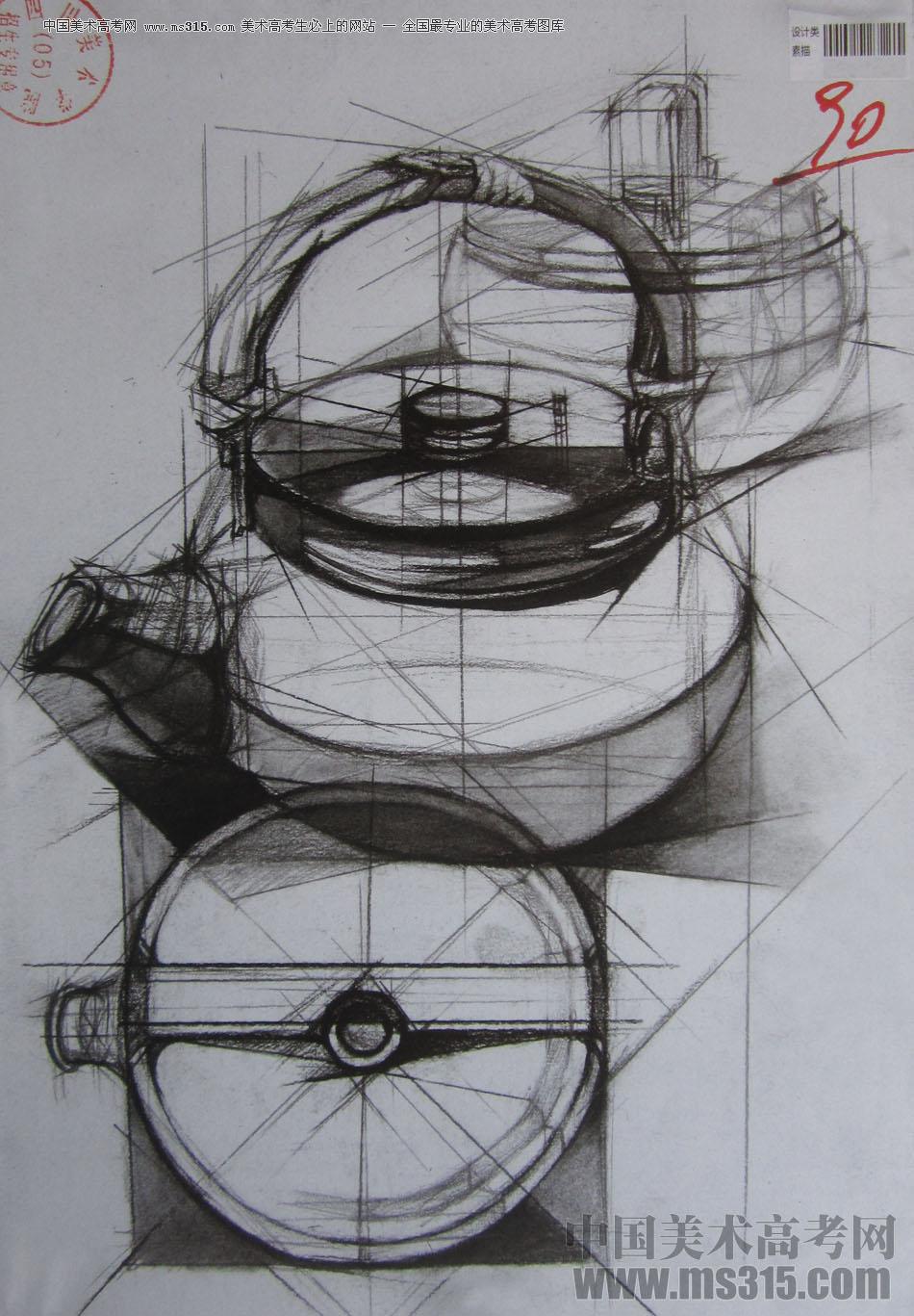 2015年四川美术学院设计素描高分卷24