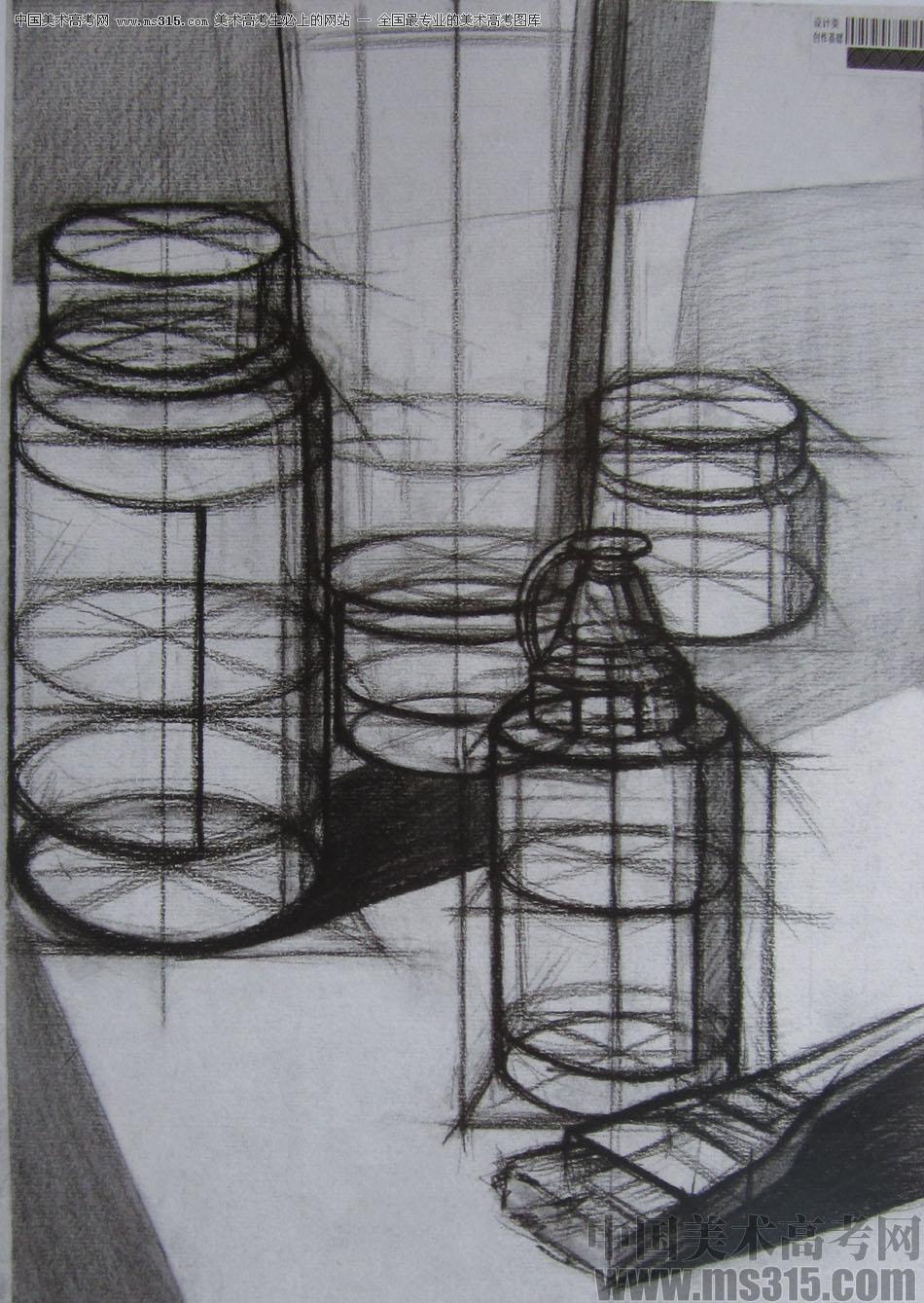 2015年四川美术学院设计素描高分卷35