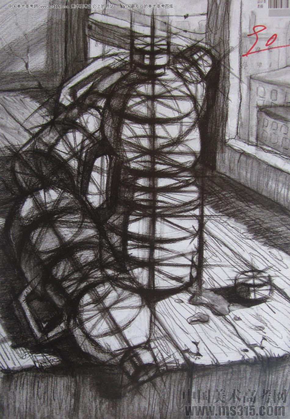 2015年四川美术学院设计素描高分卷37