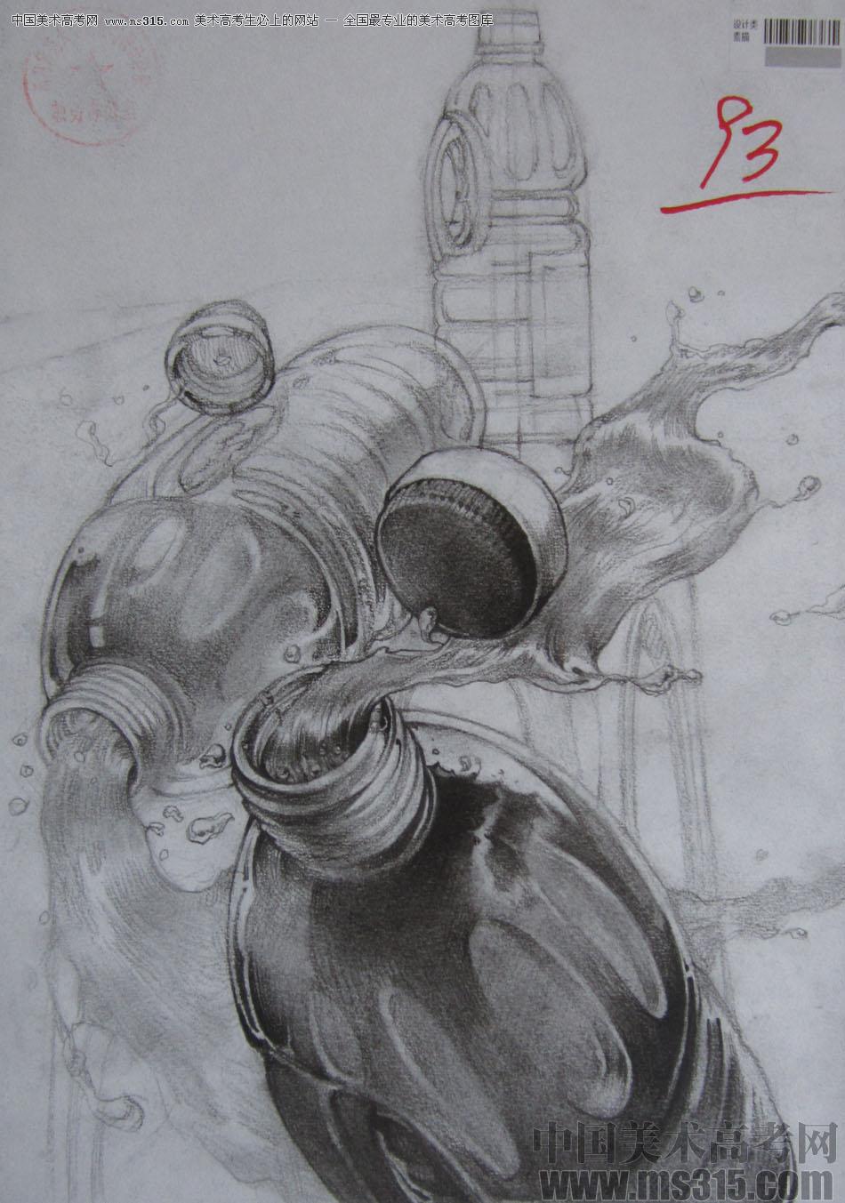 2015年四川美术学院设计素描高分卷38